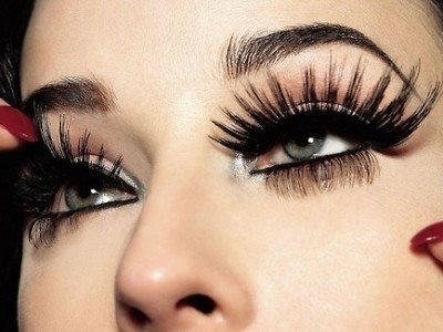 These are false lashes from Rebel Circus.  They can look fabulous for the night, but don't make the mistake of making these a permanent fixture.