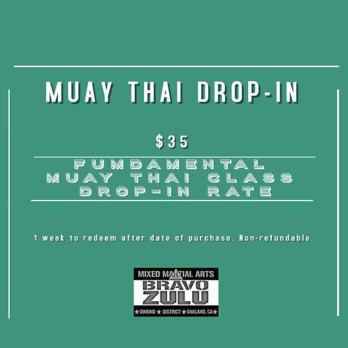 FUNDAMENTAL MUAY THAI CLASS DROP-IN RATE