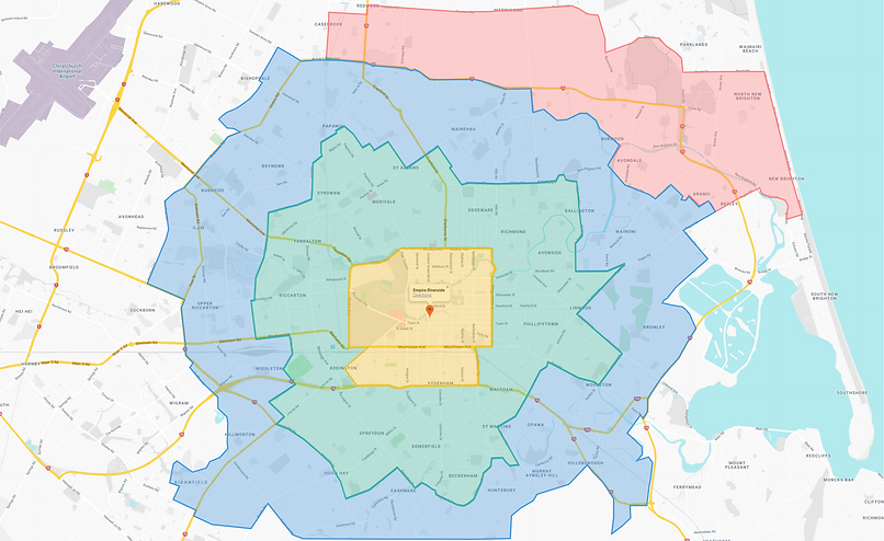 Christchurch Map Delivery Zones.png
