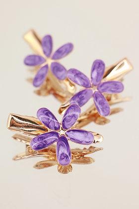Trío pincitas flor morada