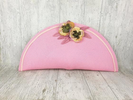 Bolso de mano de flores chicle
