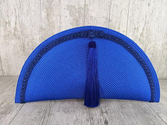 Bolso abanico borla azul klein