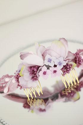Peineta Bella lilas