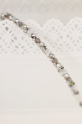 Diadema Brillos plata