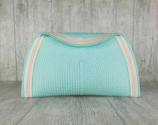 Bolso verde agua cintas