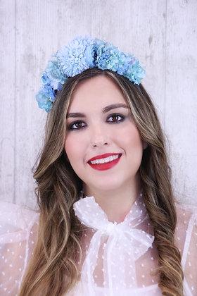 Diadema Reina azul claro