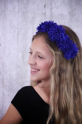 Diadema Lucía azul eléctrico