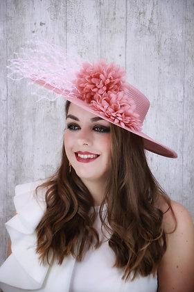 Canotier rosa palo