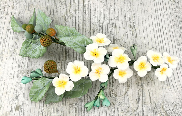 Tocado porcelana flores silvestres