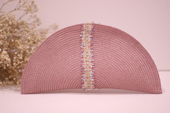 Bolso Mat rosa con pasamanería colorines