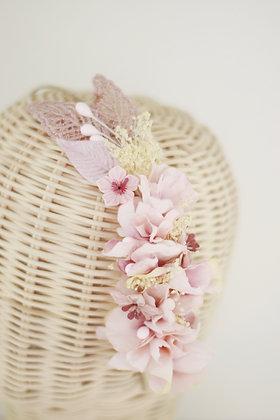 Diadema Bella rosa palo
