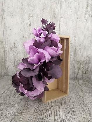 Peineta flores en morados