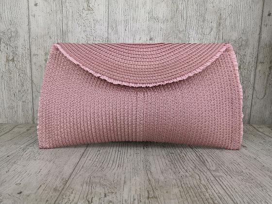 Bolso rosa palo pasamanería