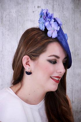 Base lado azul tinta flores