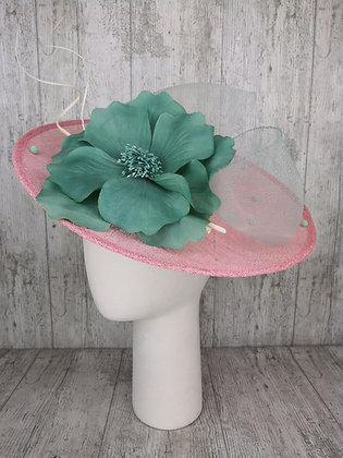 Base lado rosa maxi flor verde agua