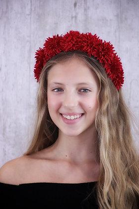 Diadema Lucía roja