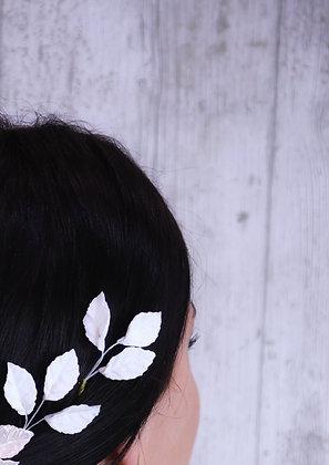 Trio de hojas blanco mate
