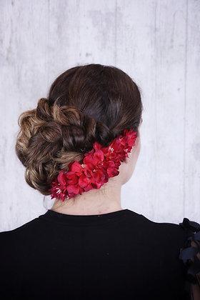 Peineta de flores rojas