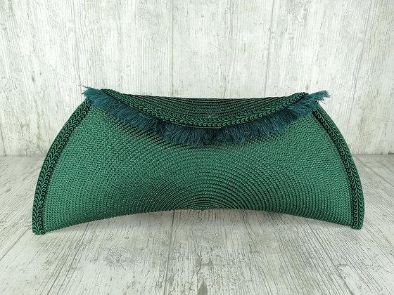 Bolso verde con flecos