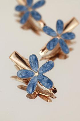 Trío pincitas flor azul