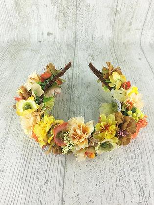 Diadema flores amarillas y mostazas