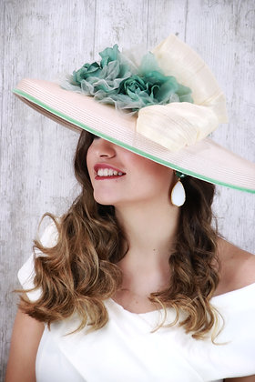 Pamela cruda y verde mint
