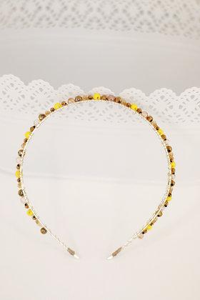 Diadema Brillos plata dorados