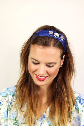 Diadema Adriana azul