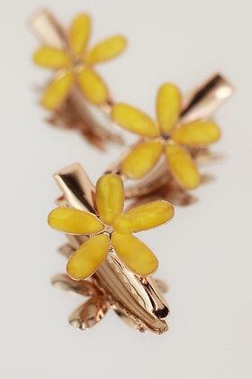 Trío pincitas flor mostaza