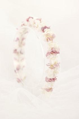 Diadema Petit blanca y rosa