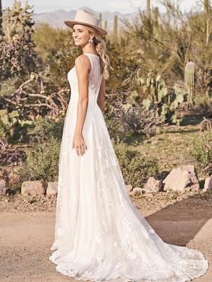 Lilith boho A-line wedding dress