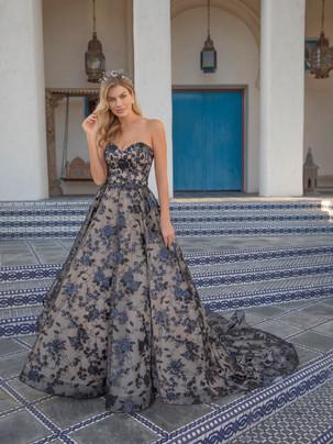 Decklyn black sequin ballgown wedding dress