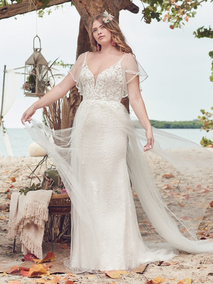 Fantasia Fit 'n Flare with detachable sleeves wedding dress