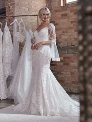Dublin Fit 'n Flare with detachable sleeves wedding dress