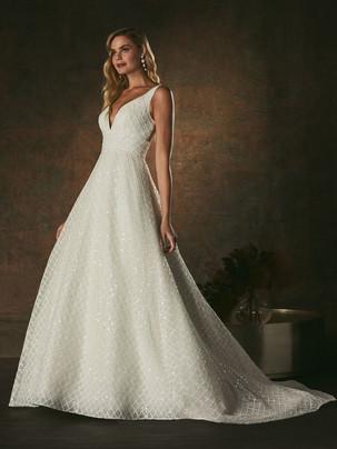 Cece sequin A-line wedding dress