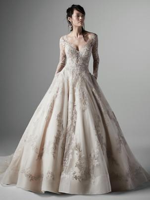 Vincent long sleeve ballgown wedding dress