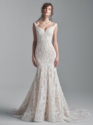 Elias beaded fit-n-flare wedding dress
