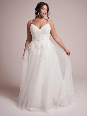 Mila whimsical romantic A-line wedding dress