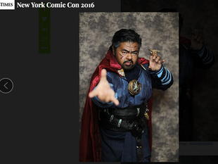 """Canvas Cosplay's 'Doctor Strange' featured in International Business Times """"The mos"""