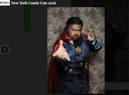 "Canvas Cosplay's 'Doctor Strange' featured in International Business Times ""The mos"