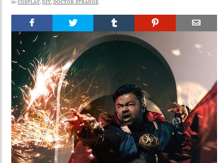 "Canvas Cosplay's ""Doctor Strange"" featured on Fashionably Geek"