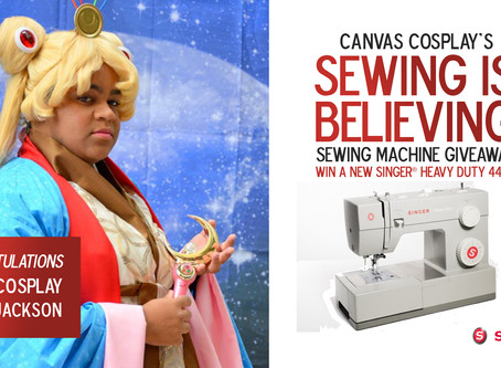 Winner of Canvas Cosplay's Sewing Is Believing SINGER Heavy Duty Giveaway