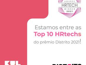 Estamos entre as Top 10 HRtechs do Prêmio Distrito 2021!