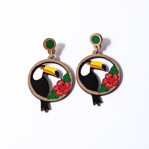 Boucles d'oreilles tropico toucan