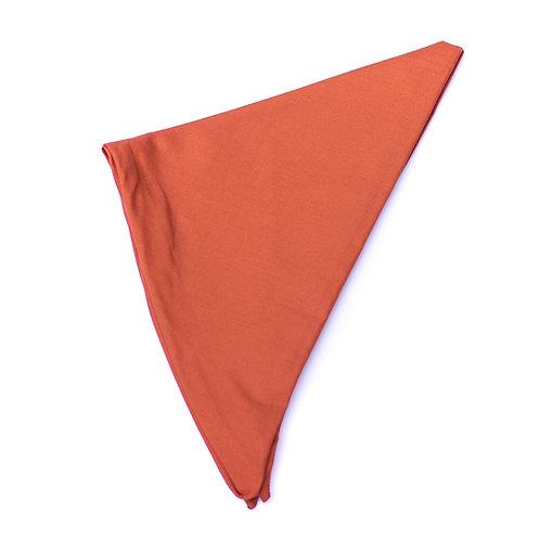 Turban uni orange terracotta