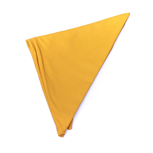 Turban uni jaune moutarde