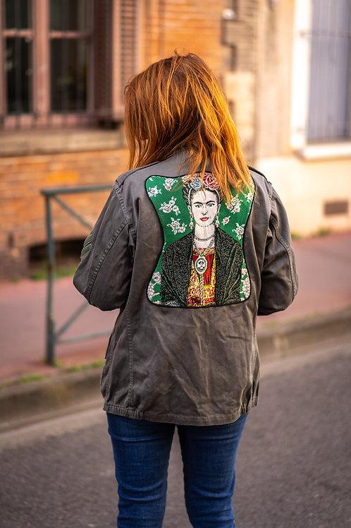 Veste kaki femme Frida vert taille M