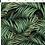 Thumbnail: Bandeau cheveux réversible feuilles palmier et uni gris anthracite
