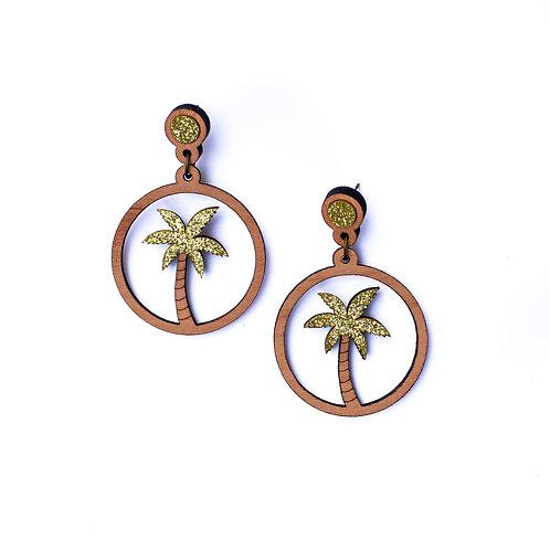 Boucles d'oreilles palmier
