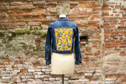 Veste en jean custom citron taille S